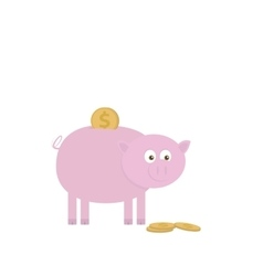 Piggy bank for saving money vector image