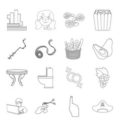 Profession fishing food and other web icon in vector