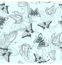 Seamless butterfly pattern vector