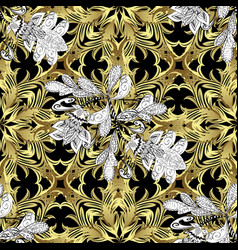 Seamless classic golden pattern traditional vector