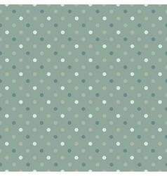 seamless polka dot pattern cold gree gamut vector image vector image