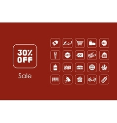 Set of sale simple icons vector