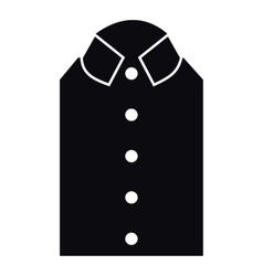 Shirt icon simple style vector
