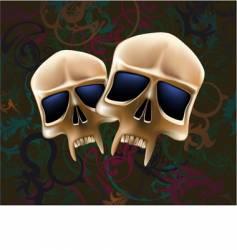 two skulls vector image