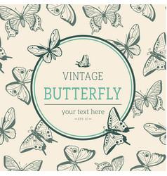 various sketch butterflies vector image