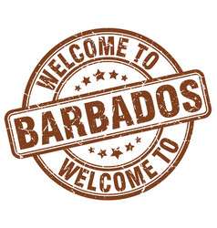 Welcome to barbados vector
