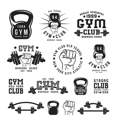 Stock of gym club emblem vector image