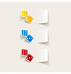 Realistic design element dice vector