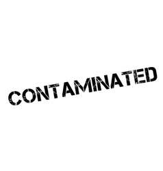 Contaminated rubber stamp vector