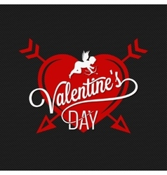 Valentines day heart and arrows background vector