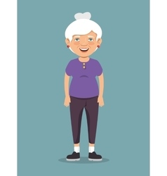 Grandmother with sport clothes vector