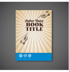 Retro vintage brochure book flyer template vector