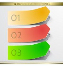 Modern arrow sticker infographics elements vector image