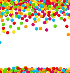 Confetti celebration background vector