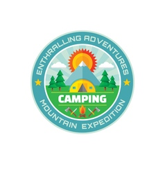Camping - enthralling adventures - mountain vector