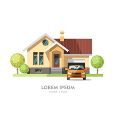 House facade traditional cottage vector