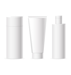 Set of cosmetics packages vector