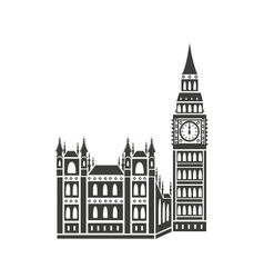 Westminster palace and big ben vector