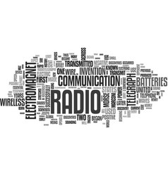 A brief history of the radio text word cloud vector