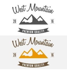 Abstract mountain logo label emblem badge and vector image vector image