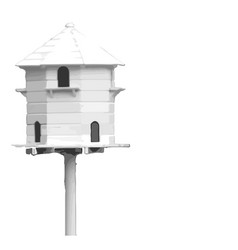 Bird house vector