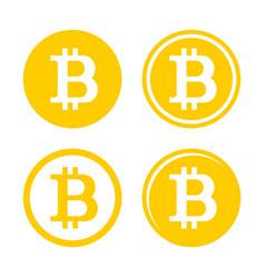 Bitcoin sign logo set vector