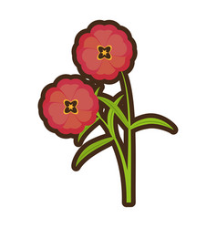 Cartoon buttercup flower bloom spring vector