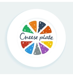 Cheese plate vector