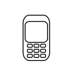 communication cellphone call icon vector image