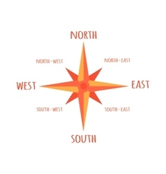 Diagram compass rose for navigation orientation vector