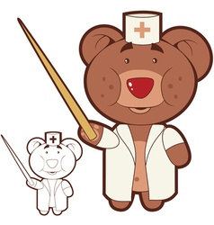 dr teddy bear vector image