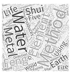 Enhancing your life with feng shui word cloud vector