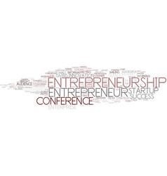 Entrepreneurship word cloud concept vector