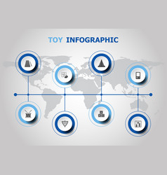 Infographic design with toy icons vector