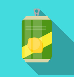 Lemonade cans bottle template in modern flat style vector