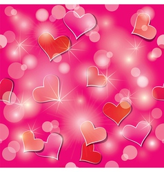 light hearts seamless 380 vector image vector image