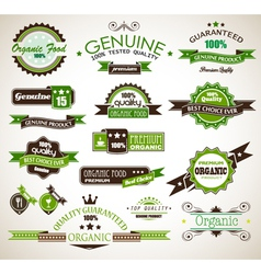 Organic and Genuine Product Labels vector image vector image
