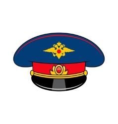 Russia police cap vector