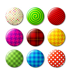 set of badges with different patterns vector image vector image