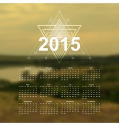 The Great Outdoors calendar vector image vector image