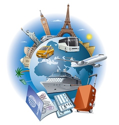 travel business vector image