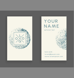Trendy business card vector