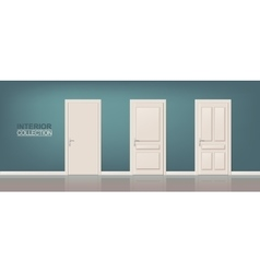 Wooden Door Set vector image vector image