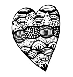 Heart shaped pattern vector