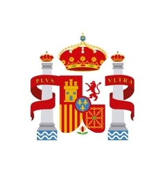 Shield classic icon of spanish culture vector