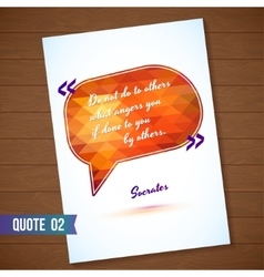 Wisdom quote card on wood background vector