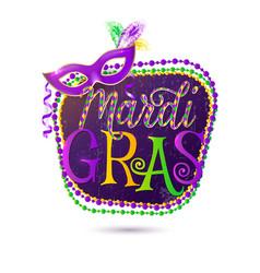 Mardi Gras holiday greeting vector image