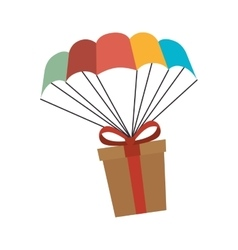 Giftbox present flying icon vector