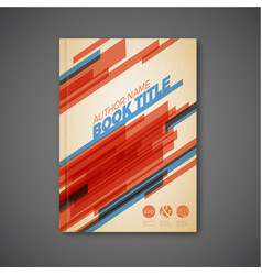 Retro abstract brochure design template vector