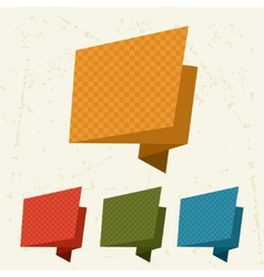 Abstract retro origami banners and speech bubbles vector image